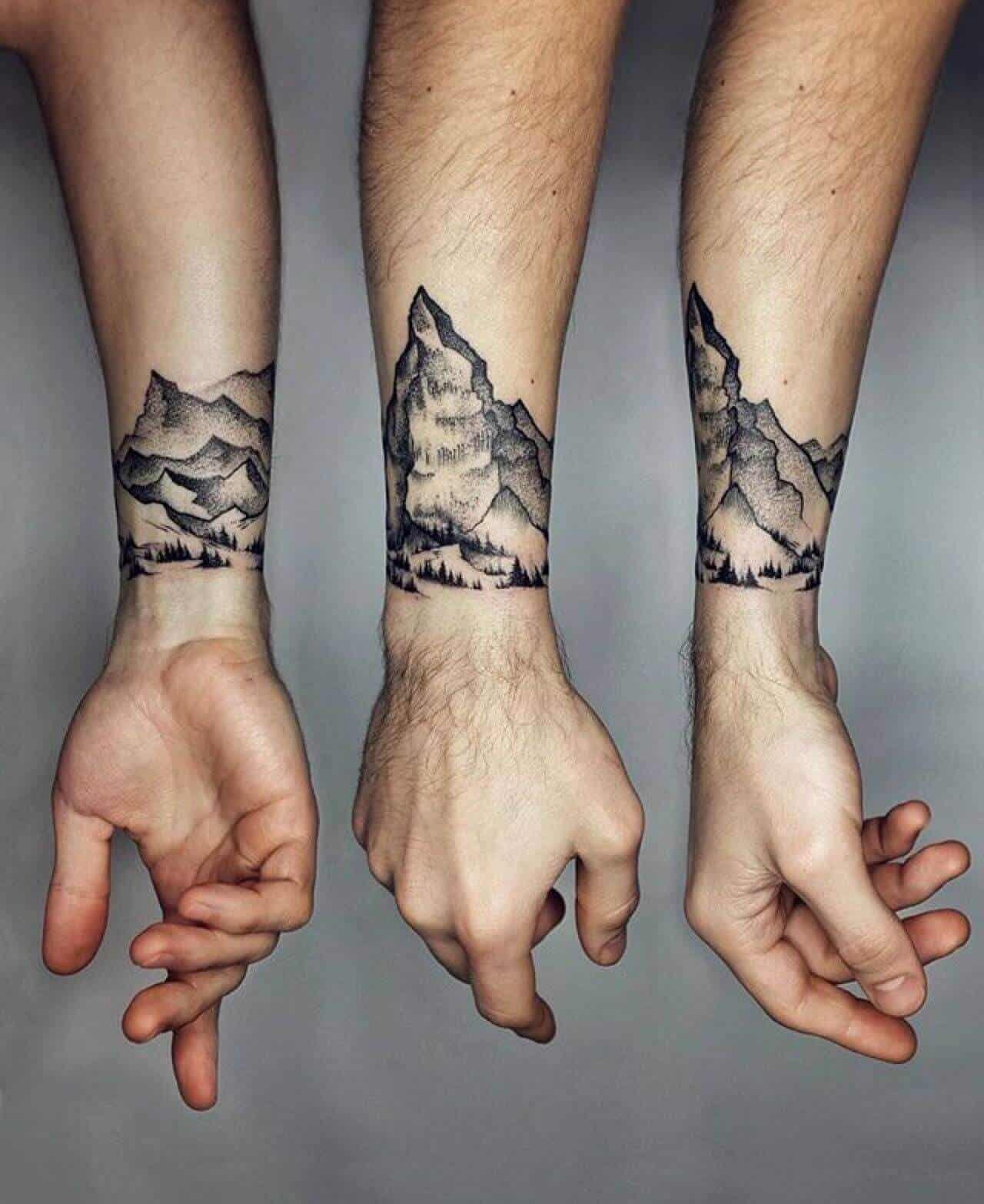 mountain wrist tattoo