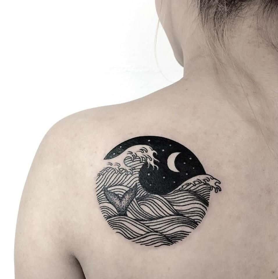 ocean back tattoo