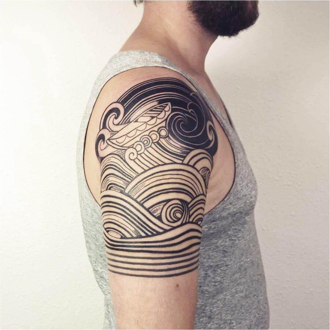 ocean sleeve tattoo