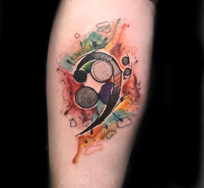 semicolon arm tattoo