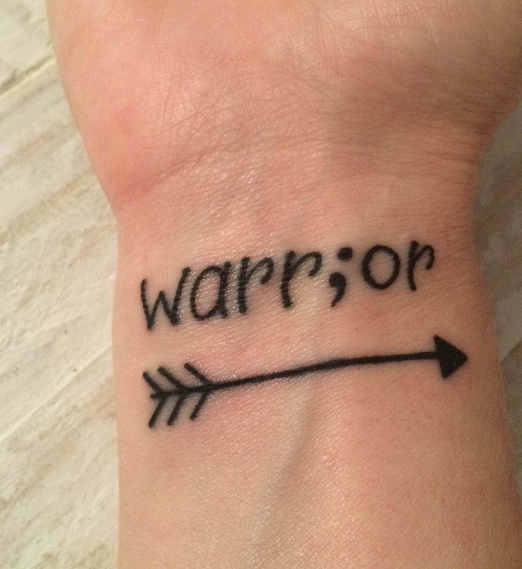 semicolon wrist tattoo