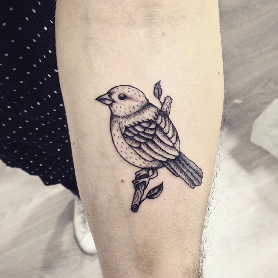 sparrow arm tattoo