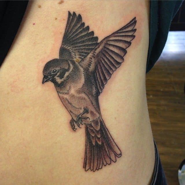 sparrow rib tattoo