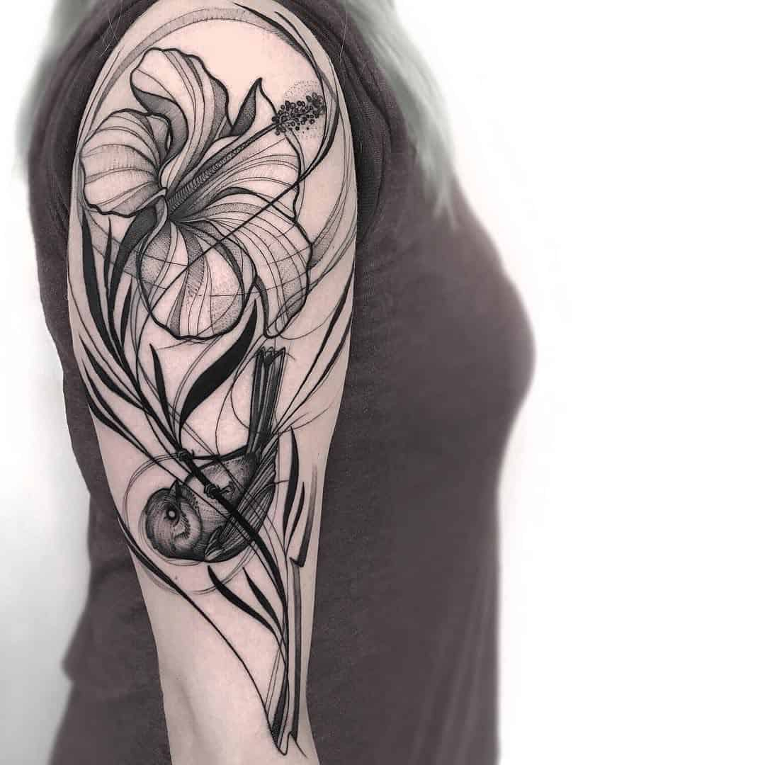 sparrow sleeve tattoo