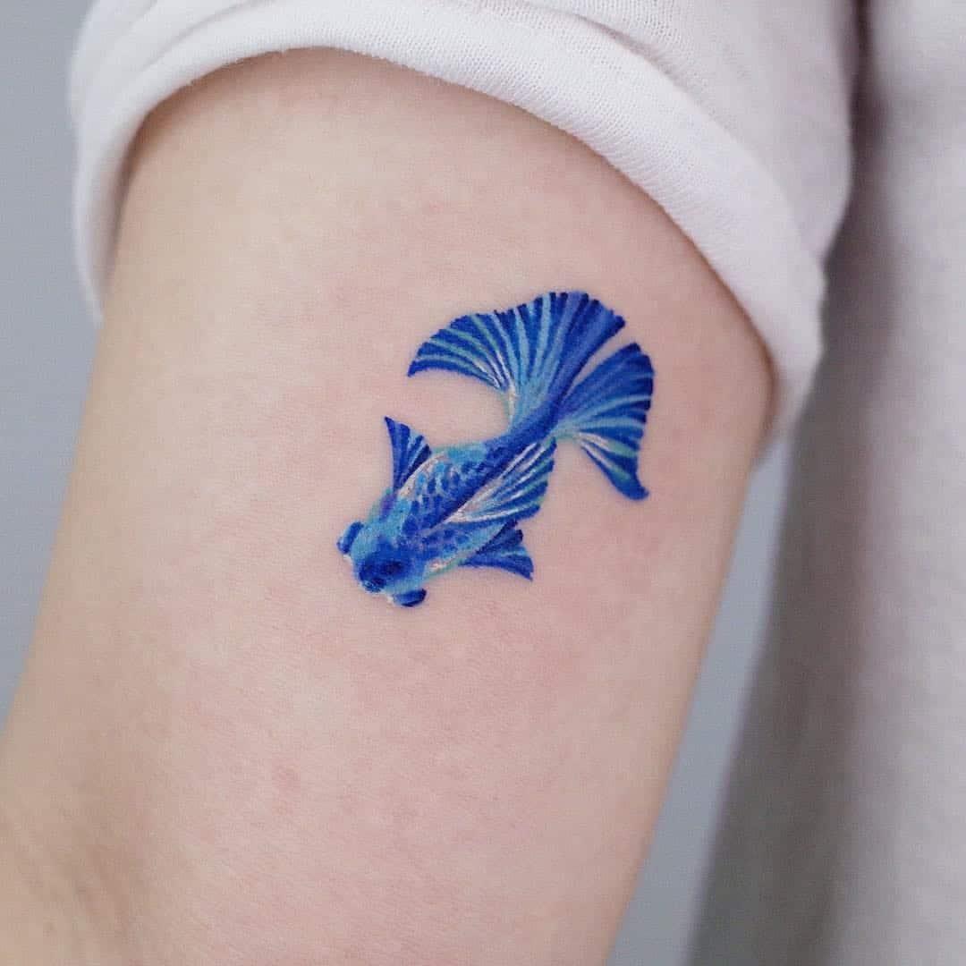 watercolor sea creature tattoo