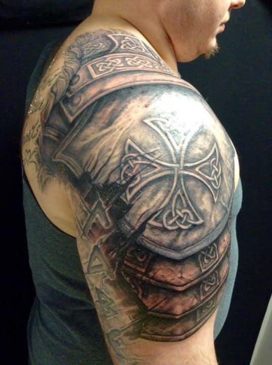 3d celtic tattoo on arm