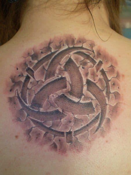 3d celtic tattoo on back