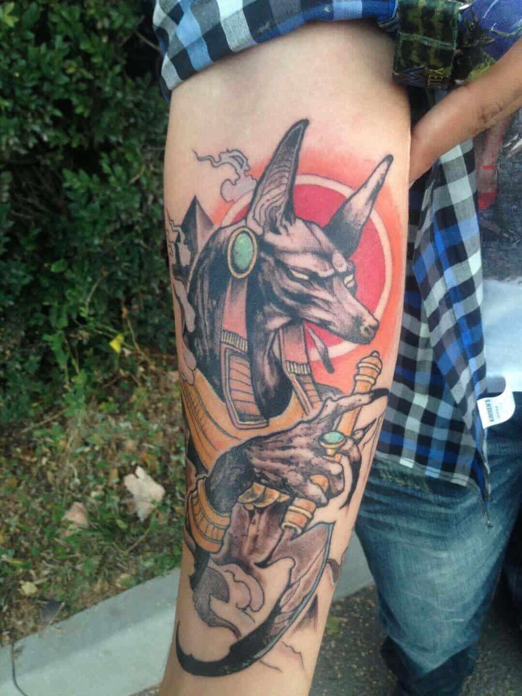 anubis arm tattoo