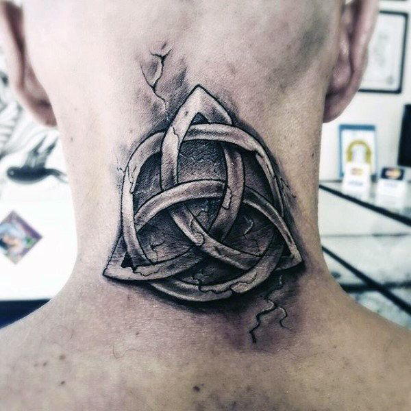 celtic knot tattoo on neck