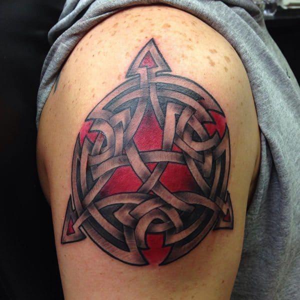 celtic knot tattoo on arm