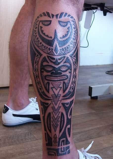 celtic leg tattoo