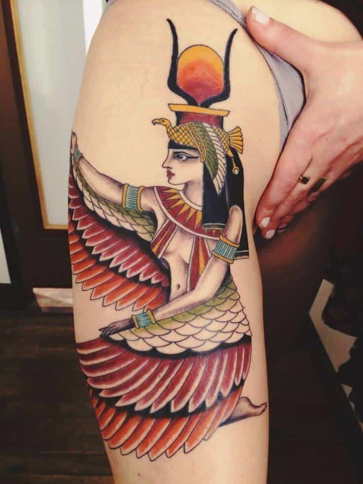 colored egyptian tattoo
