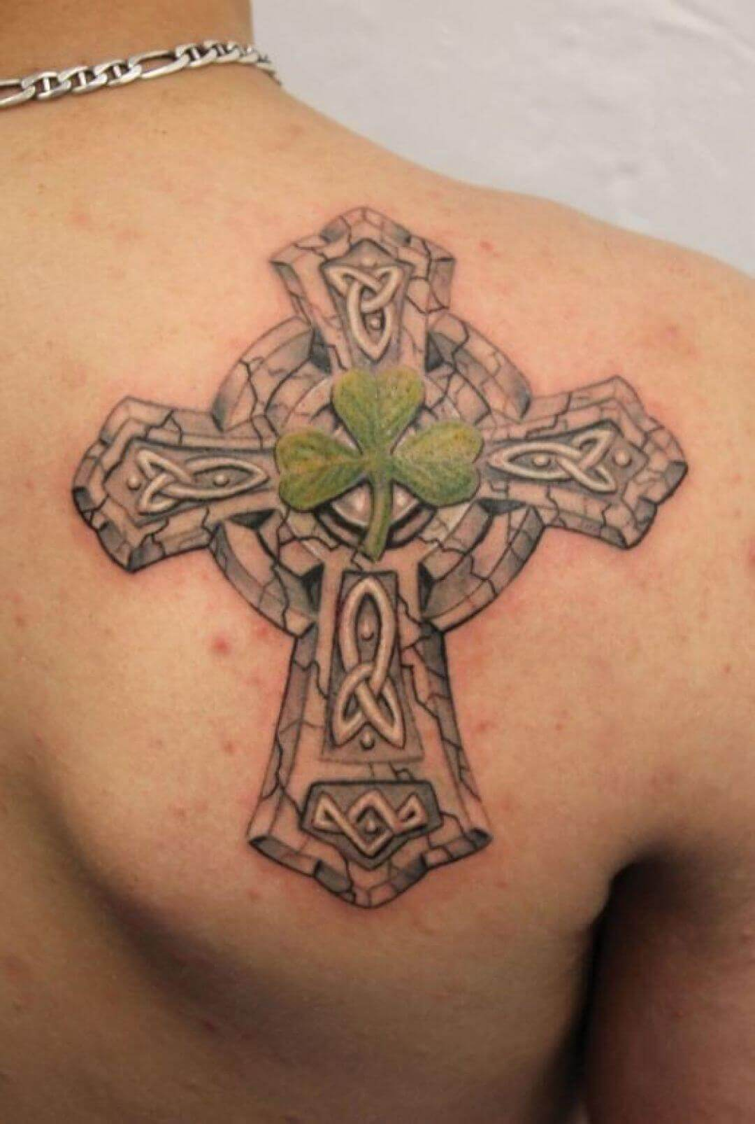 cross celtic tattoo on chest