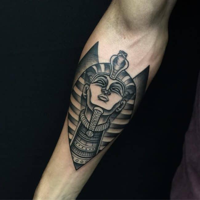 dotwork egyptian tattoo