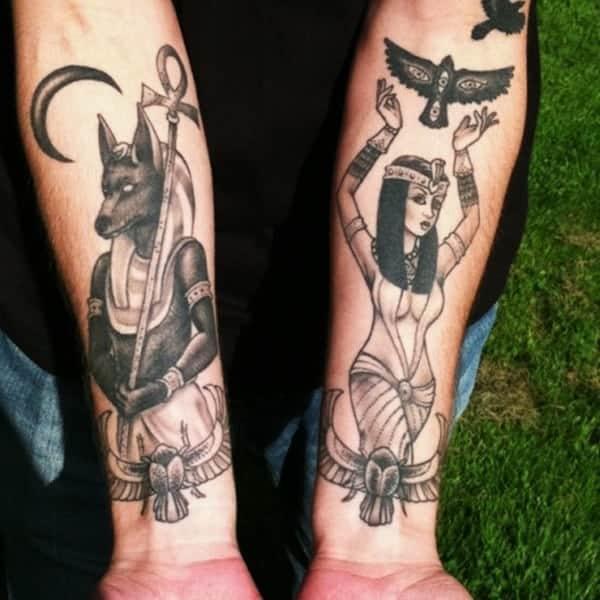 egyptian arm tattoo