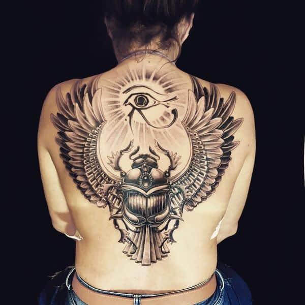 egyptian back tattoo