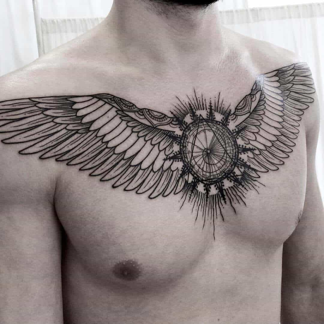 egyptian chest tattoo