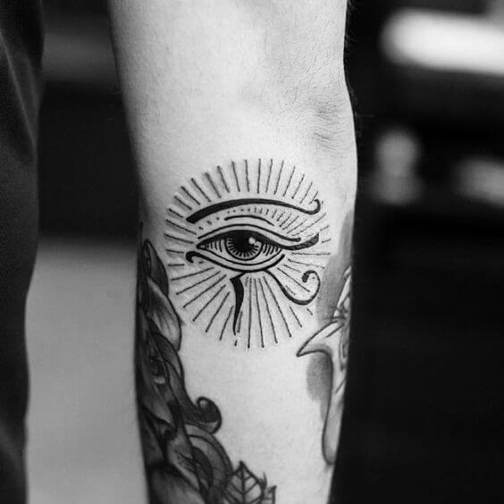 eye of horus arm tattoo