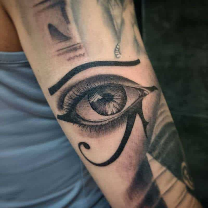 eye of horus tattoo on arm