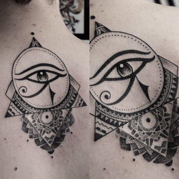eye of horus tattoo on back
