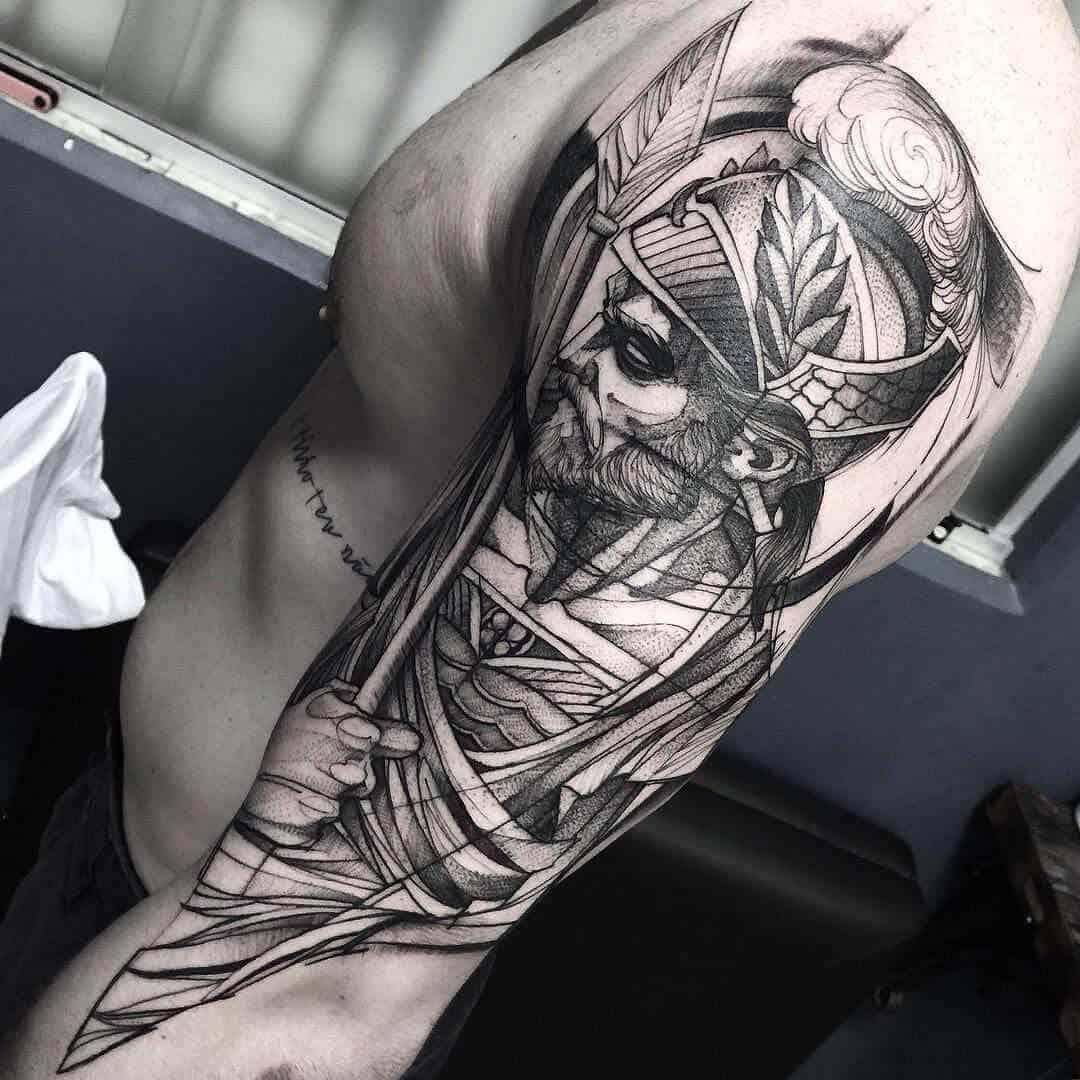 god of war arm tattoo