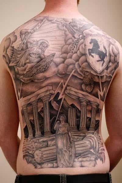 god of war back tattoo