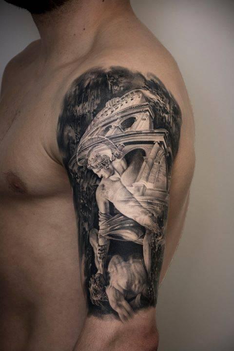 god of war sleeve tattoo