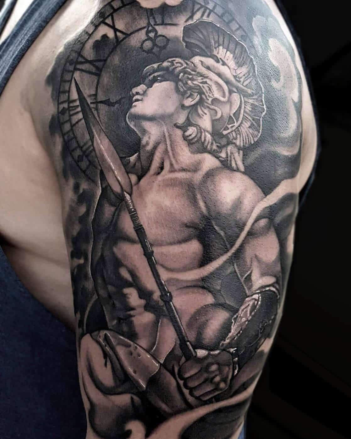 god of war tattoo on arm