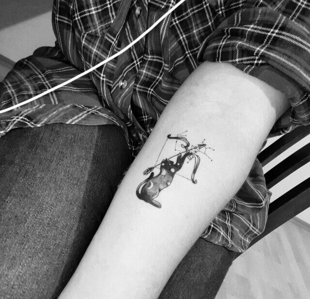 sagittarius arm tattoo