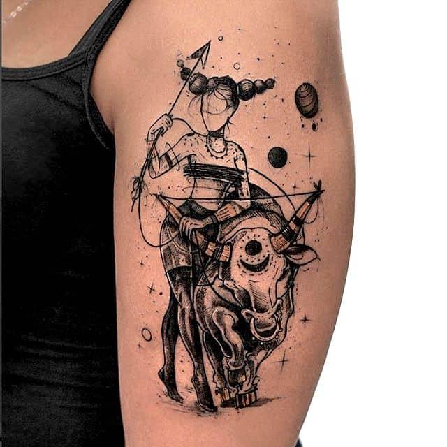 sagittarius arm tattoo