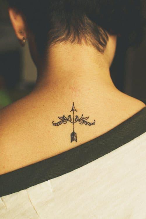 sagittarius tattoo on back