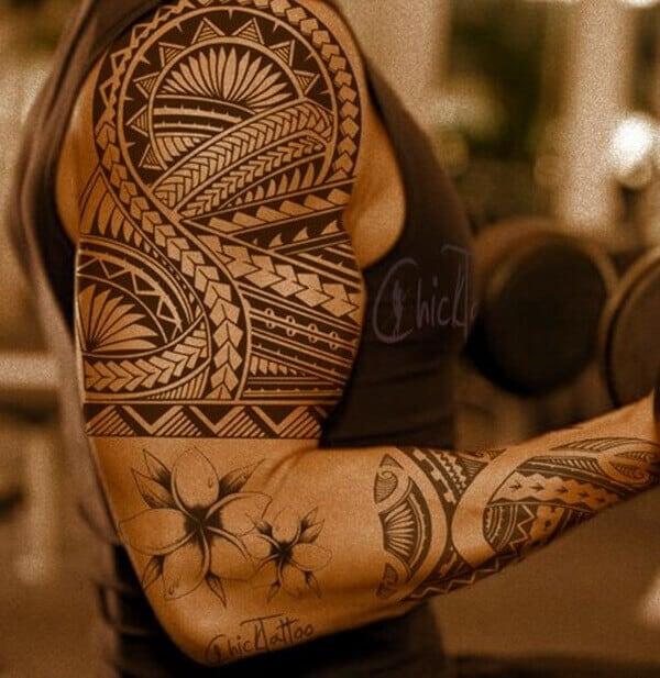 tribal celtic tattoo on arm