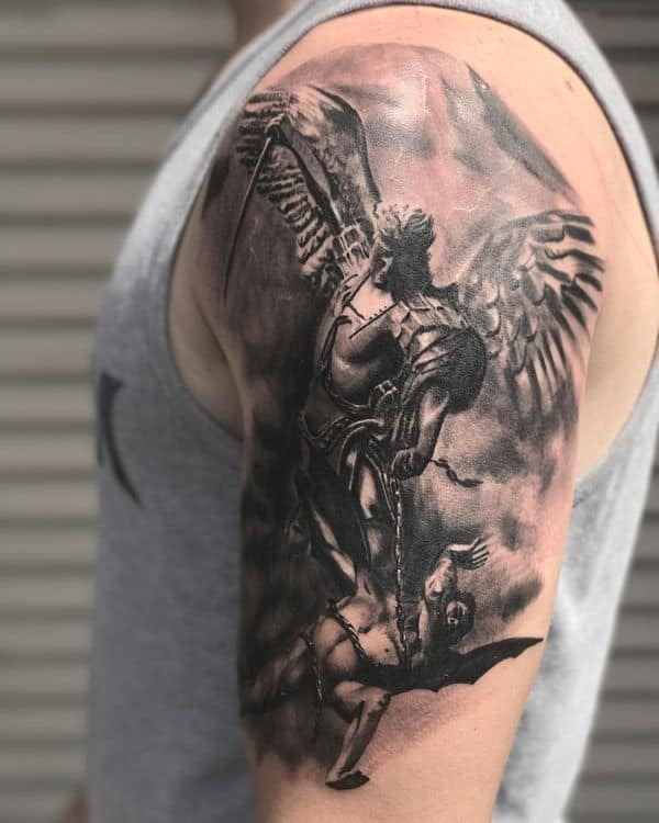 warrior saint michael tattoo