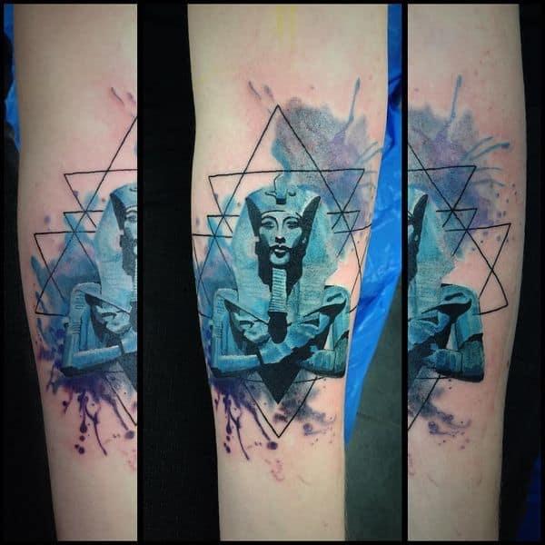 watercolor egyptian tattoo