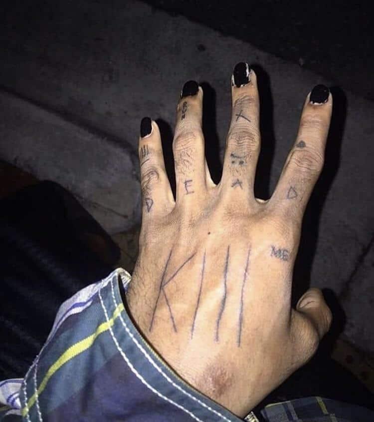 XXXTentacion dead tattoo