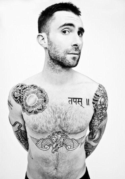 adam levine eagle tattoo
