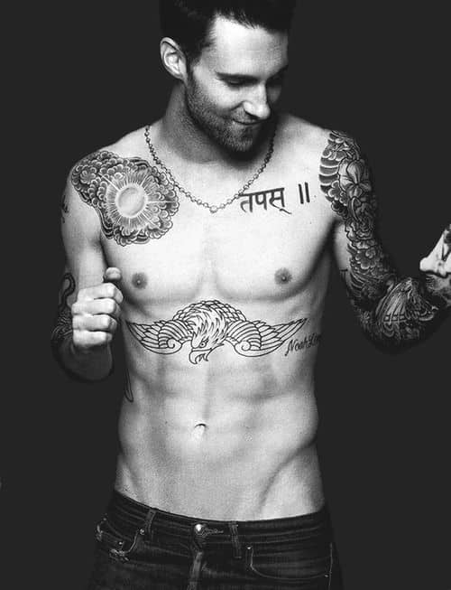 adam levine sanskrit tattoo