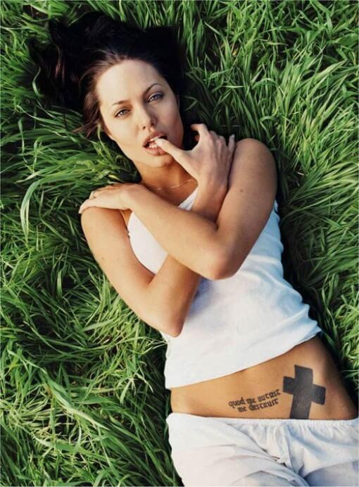 angelina jolie quod me nutrit me destruit tattoo