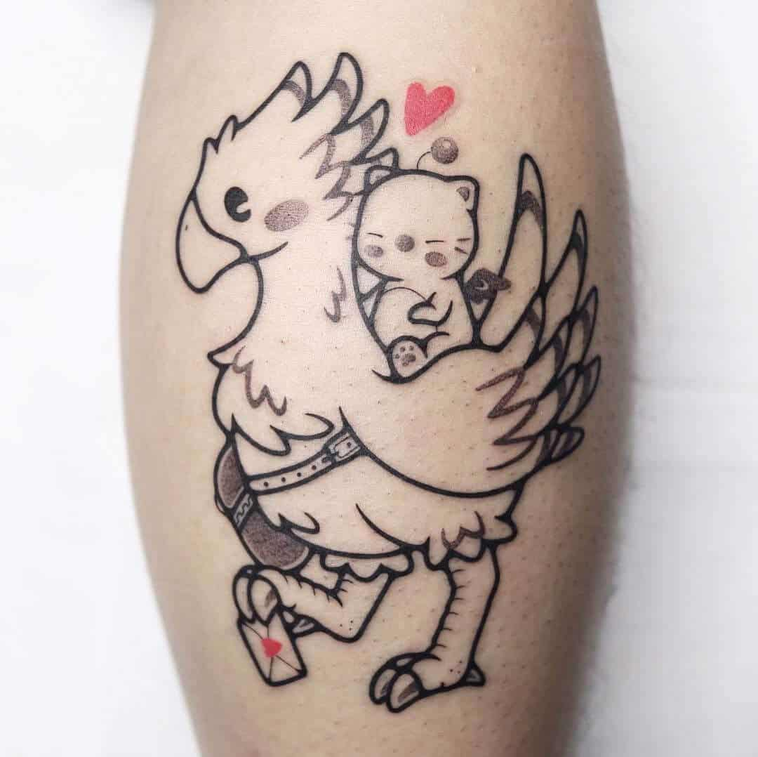 black chocobo tattoo