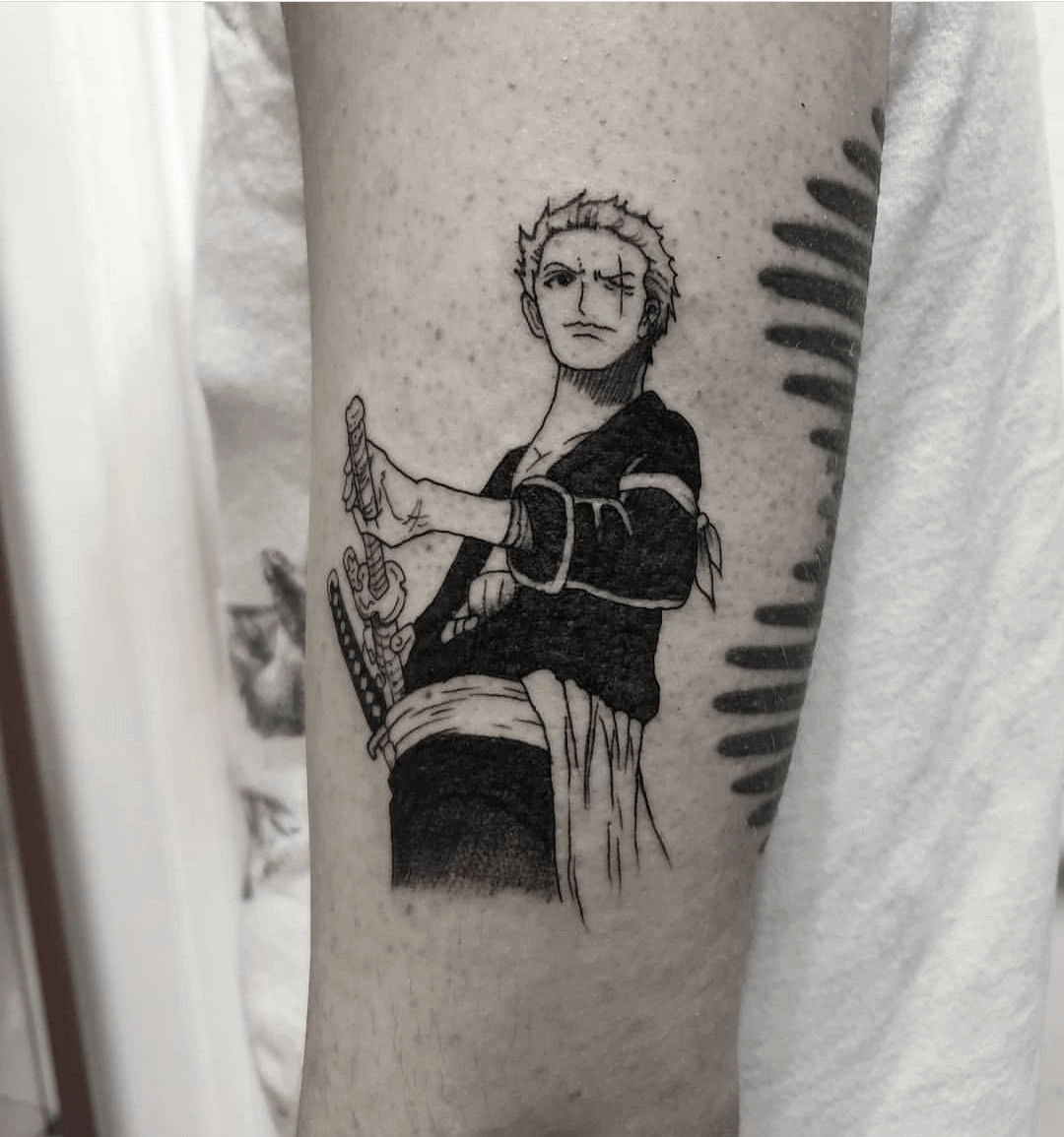 black zoro tattoo