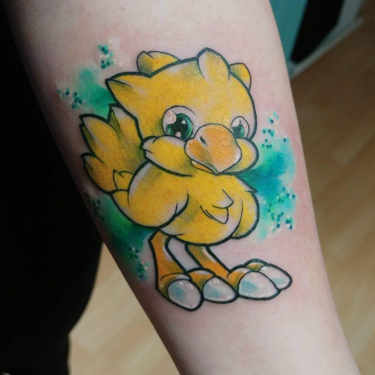 chocobo tattoo on arm