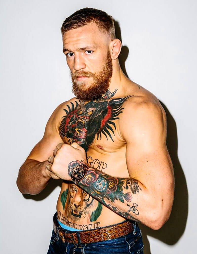 conor mcgregor rose bush tattoo