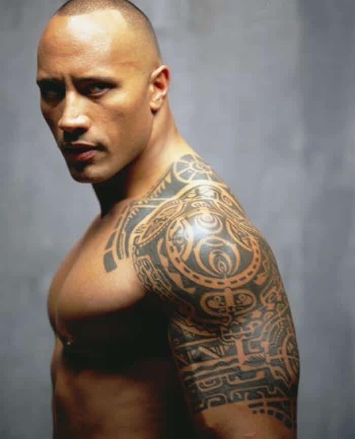 dwayne johnson tribal tattoo