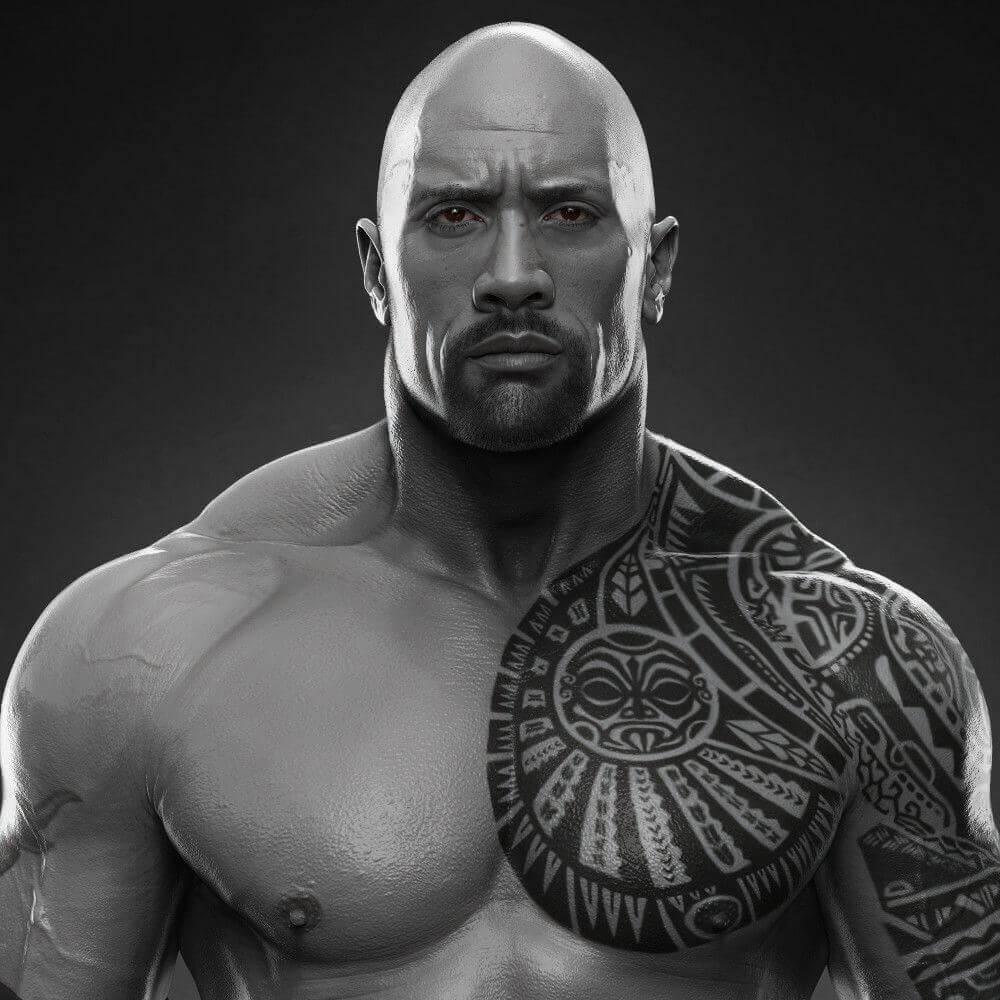 dwayne johnson warrior spirit tattoo