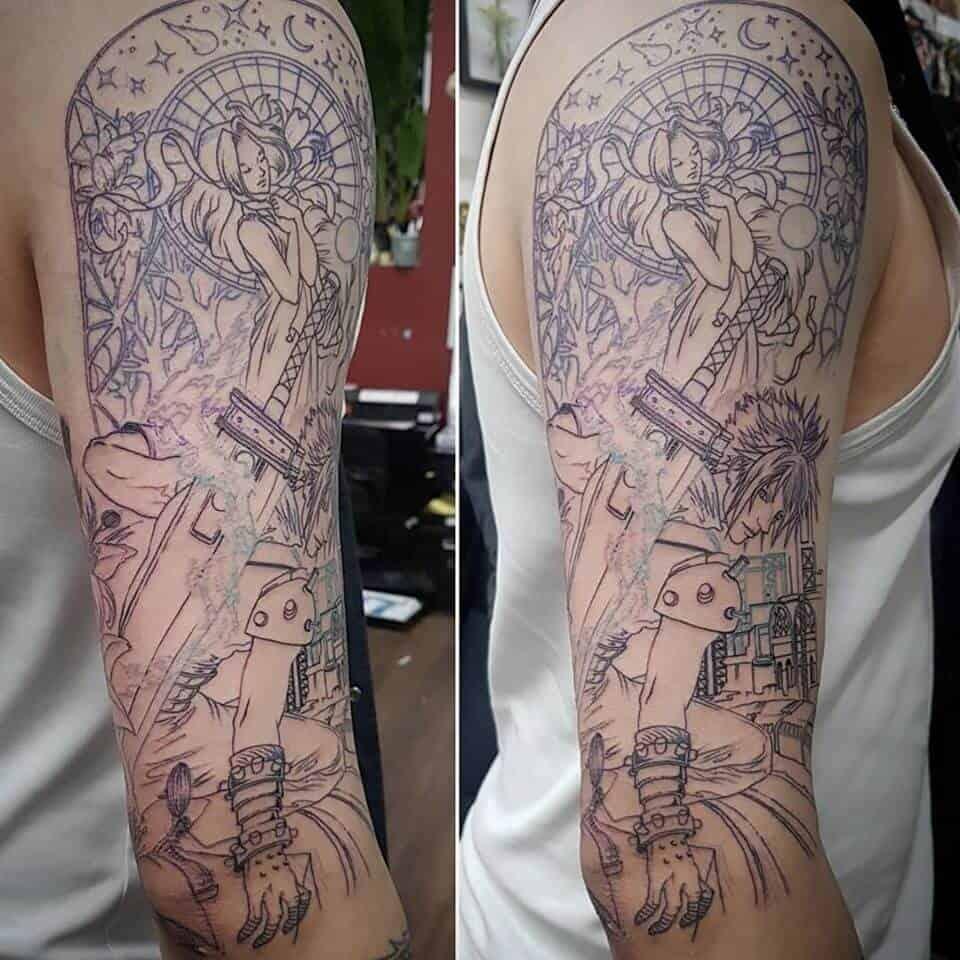 ff7 sleeve tattoo