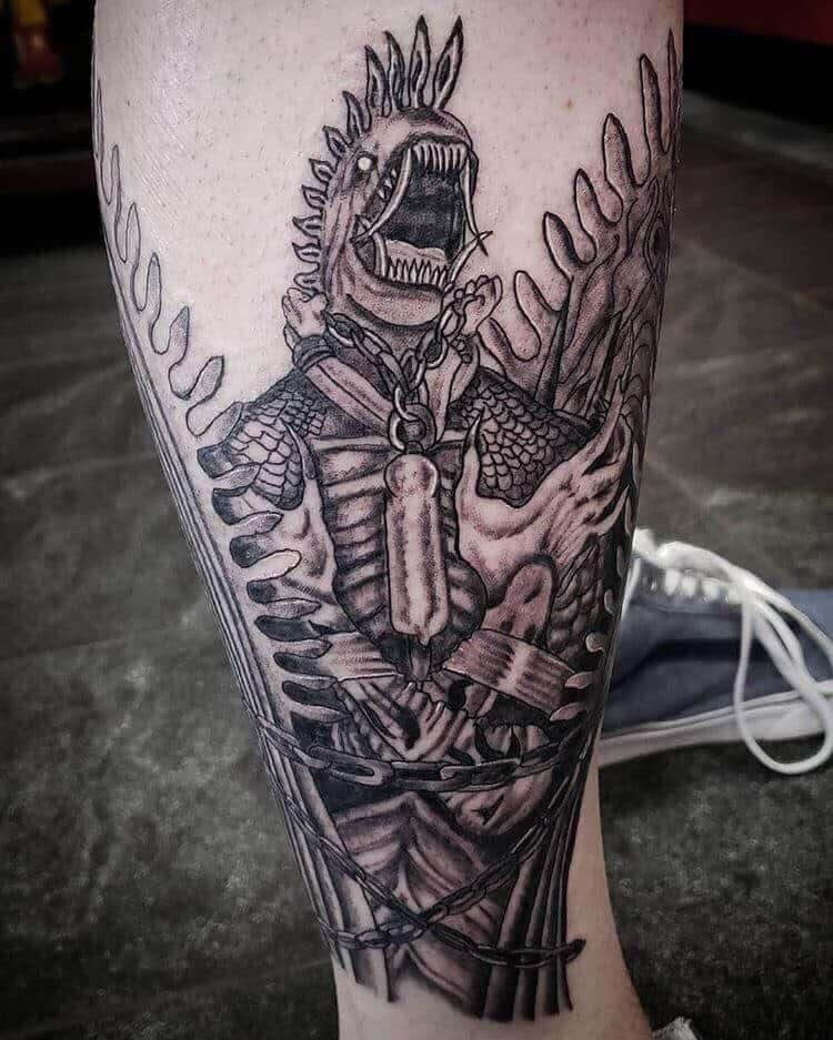 final fantasy 10 leg tattoo