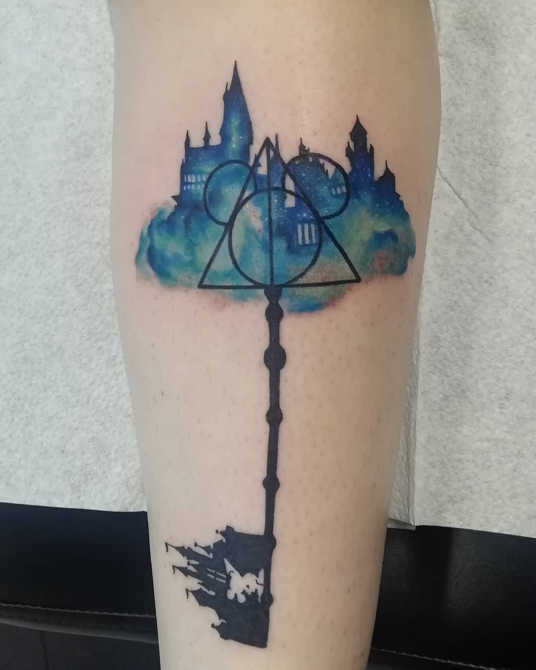 geometric keyblade tattoo