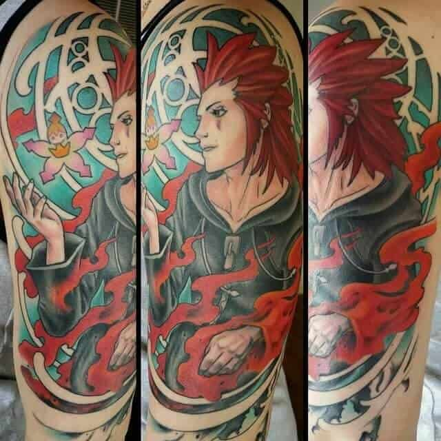 kingdom hearts axel sleeve tattoo