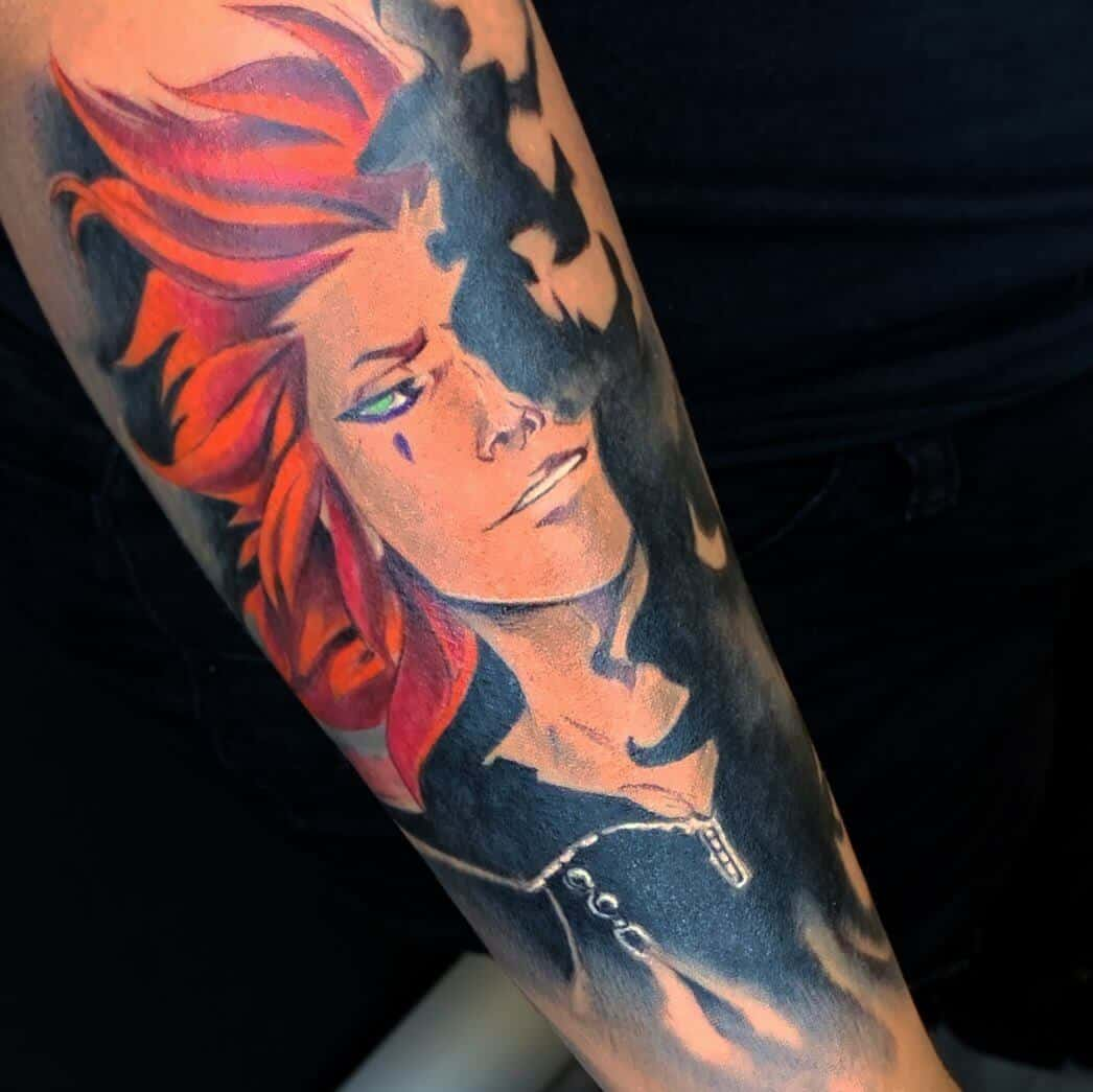 kingdom hearts axel tattoo sleeve