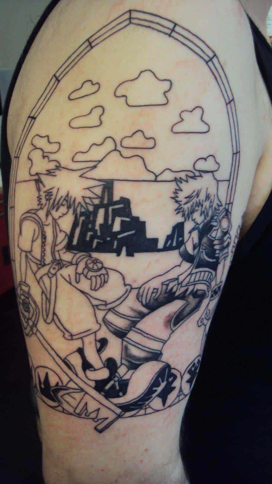 kingdom hearts tattoo sleeve